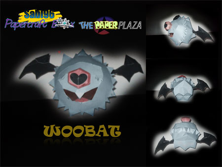 Pokemon Woobat Papercraft
