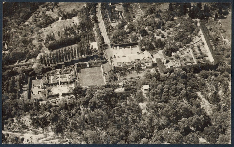 Aerial view of Marathon and garden, Mt Eliza