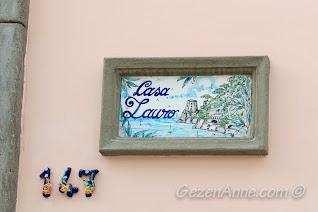 süslü, seramik kapı numaraları ve ev isimleri, Positano