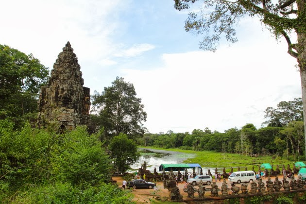 Beautiful South gate of Angkor Thom, Siem Reap, Cambodia