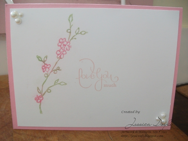 Jess 39 crafts stampin 39 up well scripted makes elegant for Classy mothers day cards