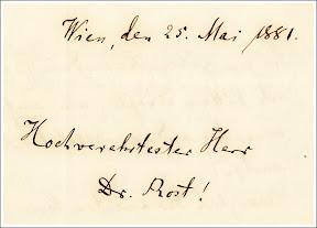 Alois Anton Führer an Reinhold Rost, 1881