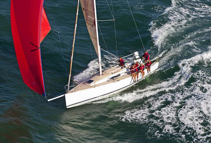 J/111 speedster- sailing fast downwind