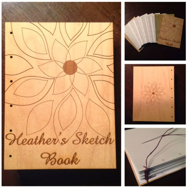 wooden cover sketch book