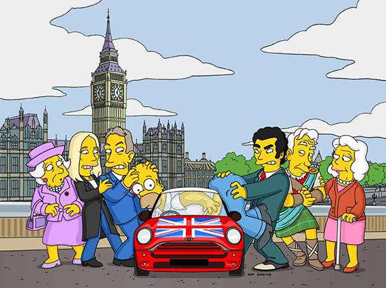 Tony Blair, JK Rowling Ian McKellan no seriado Simpsons