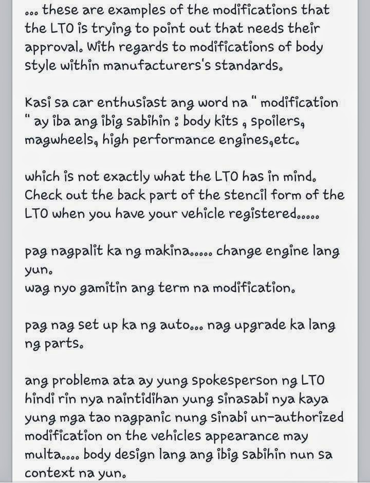 LTO (insider) clarifies Permit Needed for Modified Vehicles Custom Pinoy Rides Manila Philippines pic3