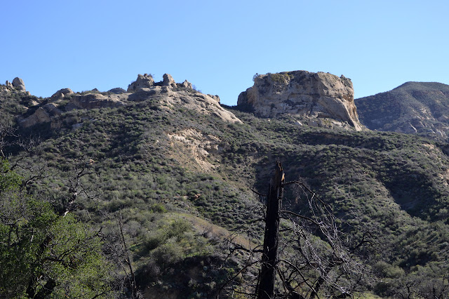 squared off rock outcrop