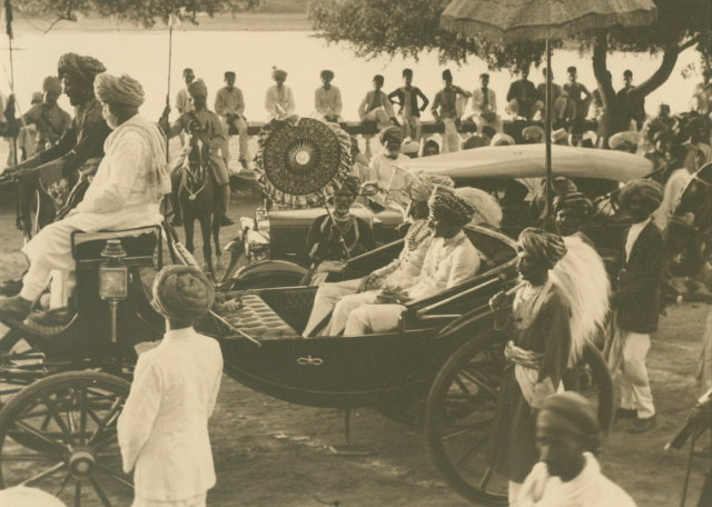 Maharajah of Gwalior on a Royal Carriage - November 1936