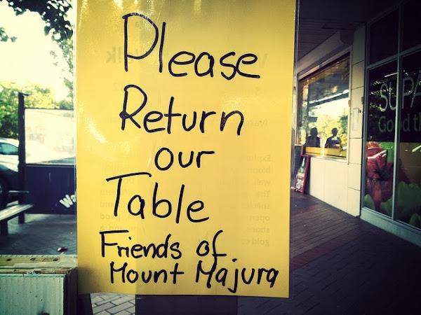 no table