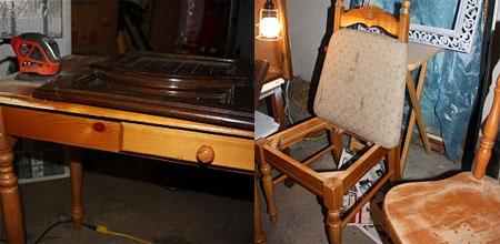 Customizando seu escritório - reformar mesa e cadeira