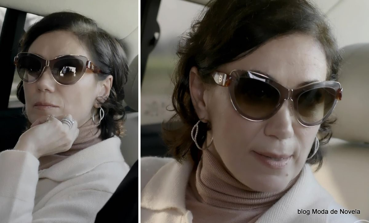 moda da novela Império - óculos de sol gatinho da Maria Marta dia 28 de julho