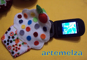 artemelza - porta celular cupcake