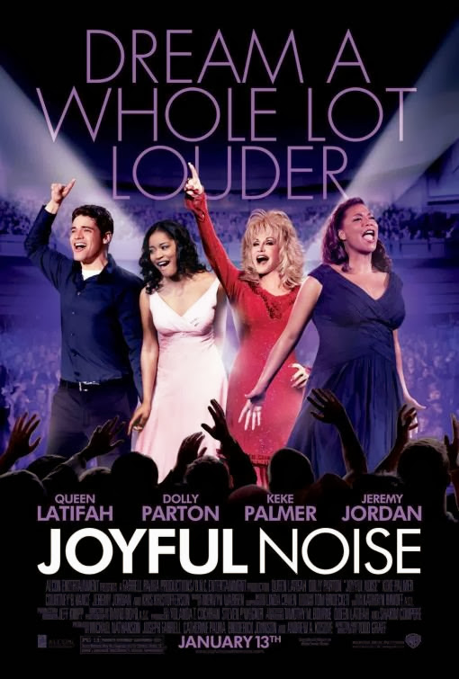 Poster Of Joyful Noise (2012) Full Movie Hindi Dubbed Free Download Watch Online At Alldownloads4u.Com