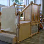 LePort Preschool Huntington Beach - Stair and slide for infants at Montessori childcare