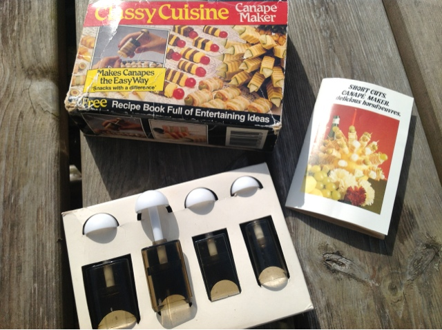 Foodie quine edible scottish adventures my vintage for Classy cuisine canape maker