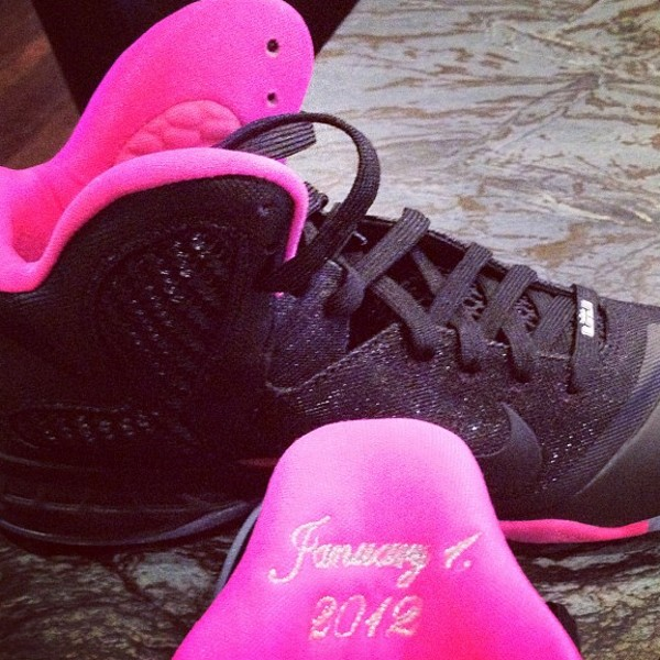 LeBron Got His Fiancee Special LeBron 9 Engagement Shoes