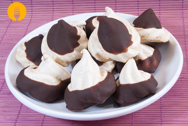 receta merengues canela chocolate