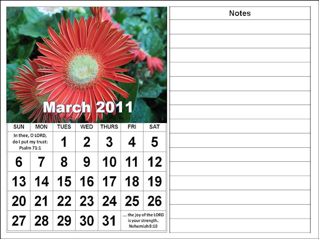 free march 2011 printable calendar. Christian March 2011 Calendar
