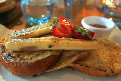 法式吐司与焦糖香蕉愚蠢餐厅在英国伦敦