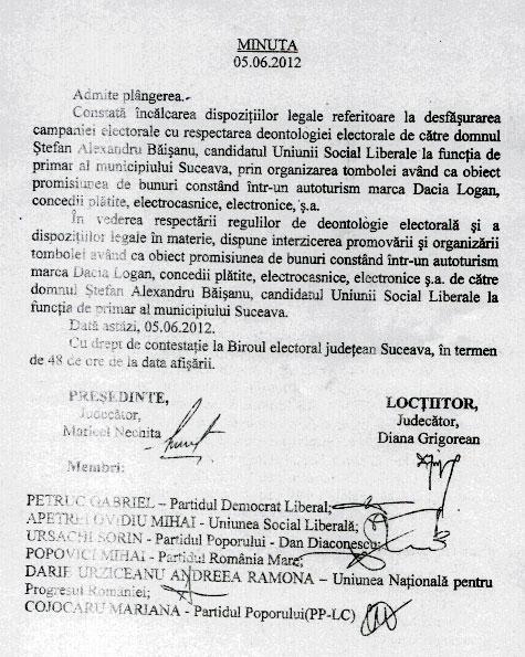 Tombola lui Băişanu interzisă de Biroul Electoral Municipal