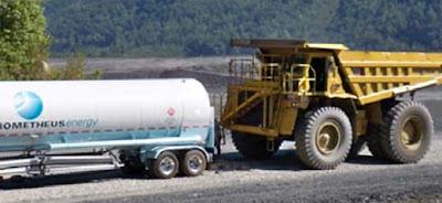 Australia. Tankowanie LNG do kopalnianego wozidła