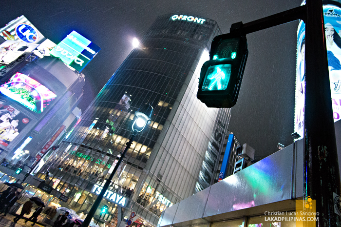 Green Light at Tokyo's Shibuya Crossing