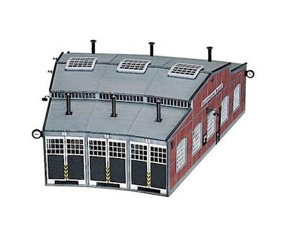 Modelbouw trein locomotieven loods
