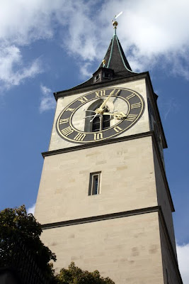 Clock tower in Zurich Switzerland