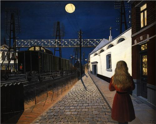 Loneliness by Paul Delvaux (1956)