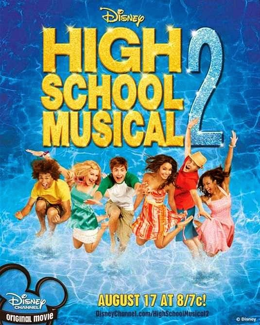 Poster Of High School Musical 2 (2007) Full Movie Hindi Dubbed Free Download Watch Online At alldownloads4u.com