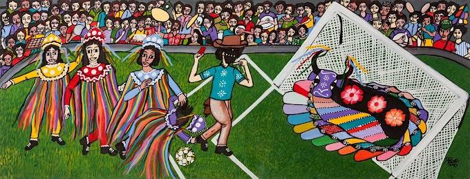 """Exposição """"Natal Pintando a Copa 2014"""" está aberta ao público na Pinacoteca do Estado"""