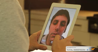 Facial Augmented Reality App for iPad 2