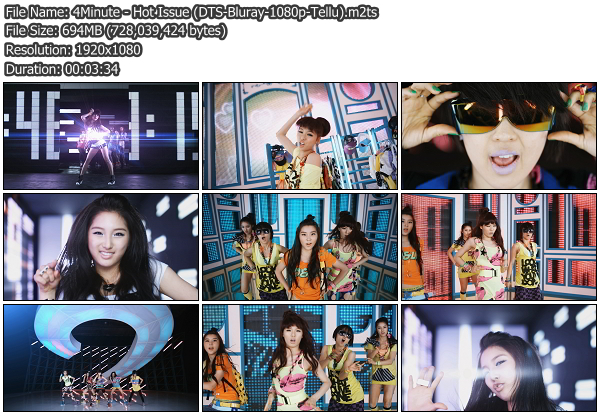 [MV] 4Minute   Hot Issue (Blu Ray HD 1080p)