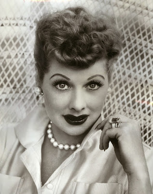Lucile Ball Wearing a Strand of Pearls