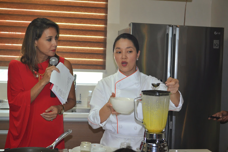 Chef Aileen Anastacio showed how to cook Eggs Benedict and Foolproof Hollandaise