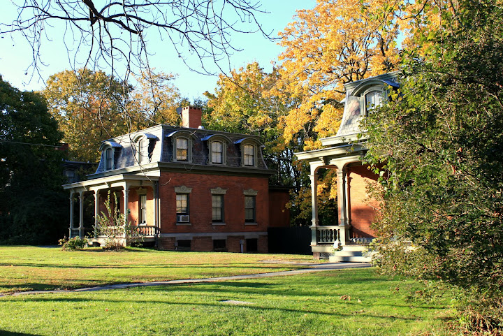 Second Empire Style homes on the grounds of Snug Harbor