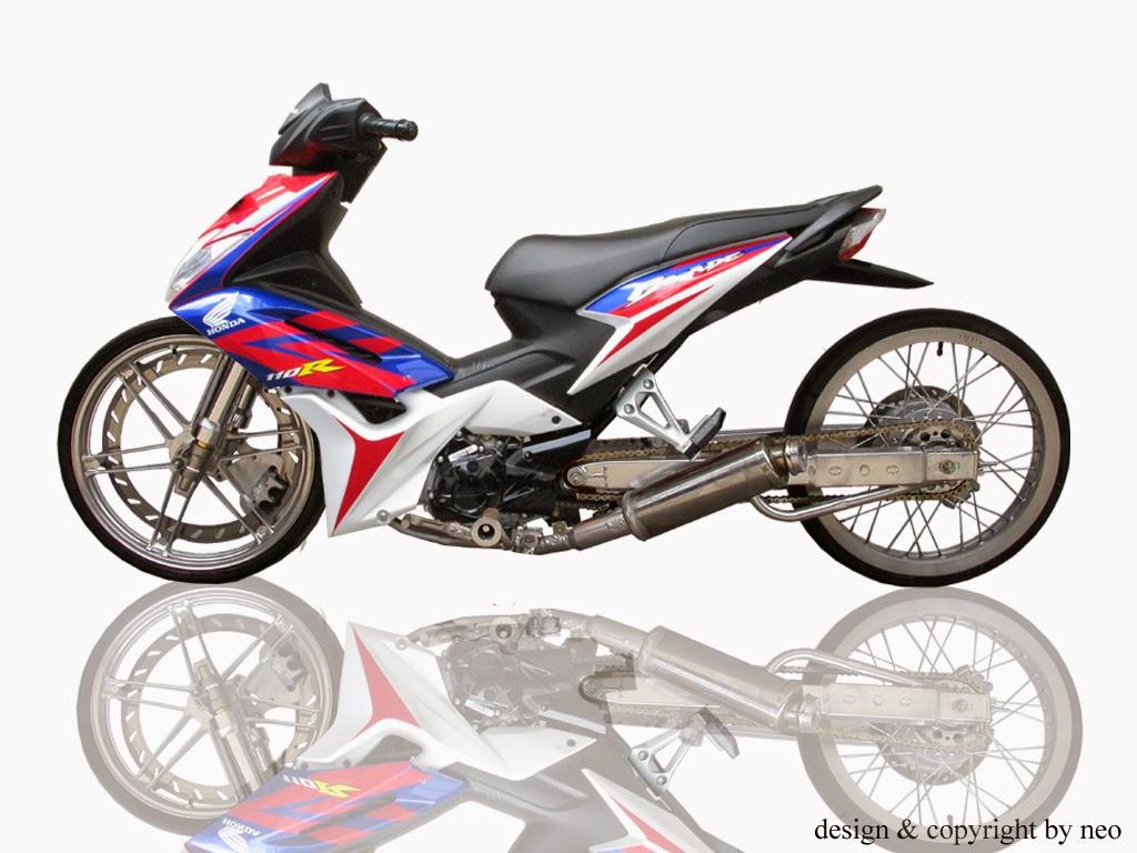 Foto Modifikasi Honda Blade Road Race