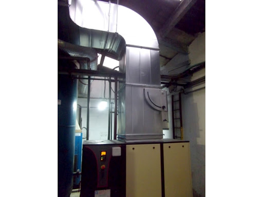 Conducto cuadrado para la filtracion de aire industrial