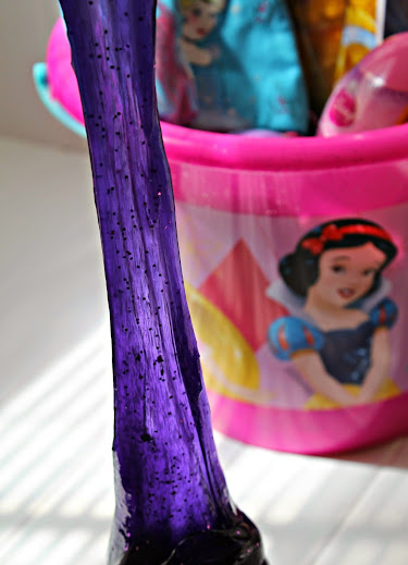 "Disney Princess ""Rapunzel"" Glittery Homemade Silly Putty Tutorial #DisneyEaster"