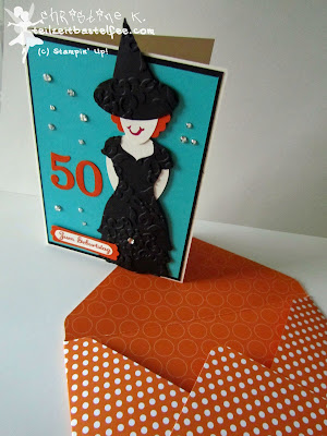 stampin up, punch art, witch, hexe, envelope punch board, birthday, geburtstag, express yourself, in worte gefasst