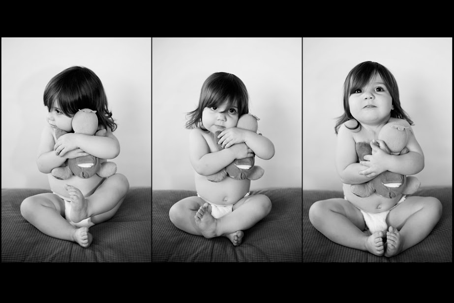 Toddler girl with lovey stuffed animal portrait