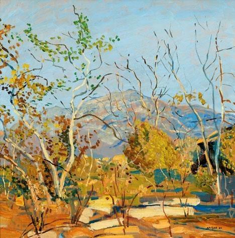 Walter Elmer Schofield - Spring rain, Tujunga, California