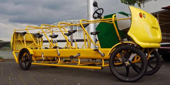 Bicicleta-autobús, promete cambiar el transporte escolar en Holanda