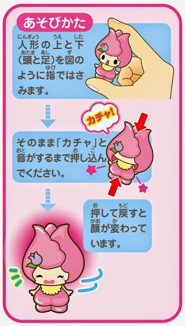 Hướng dẫn thay đổi sắc mặt bé Churi (được in trên bao bì sản phẩm)