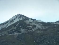 Llegando a la cumbre de La Paz