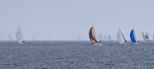 J/105 one-design sailboat- sailing off Santa Barbara, CA