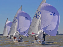 J/22 one design sailboats- on Lake Ponchartrain, New Orleans, LA