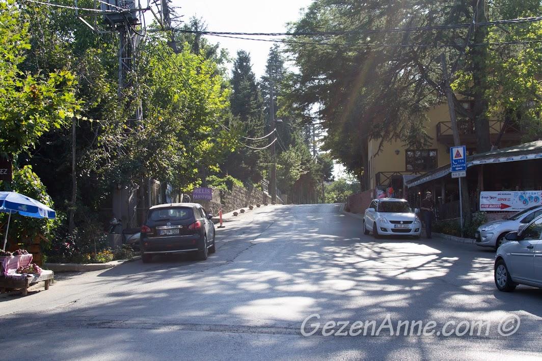 Polonezköy'ün girişi, meydan
