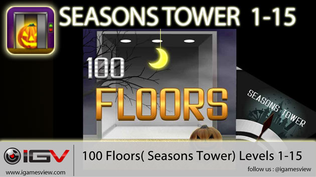 100 Floors Seasons Tower Level 1 - 15 Walkthroughs