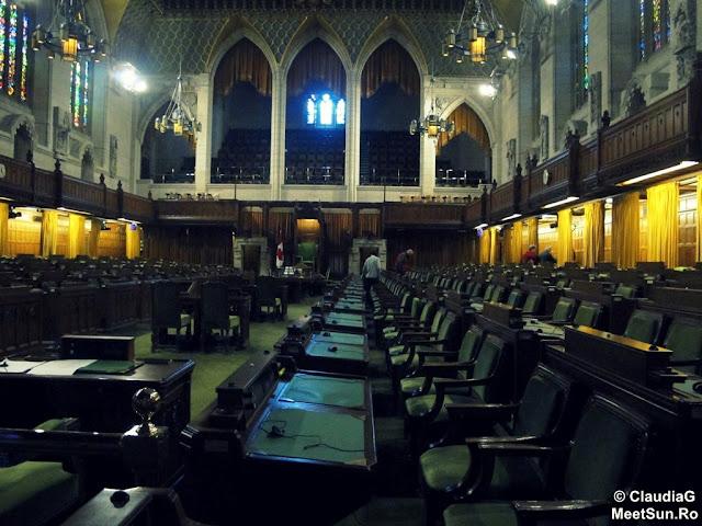 Ottawa - Parlamentul Canadei.  Camera Comunelor